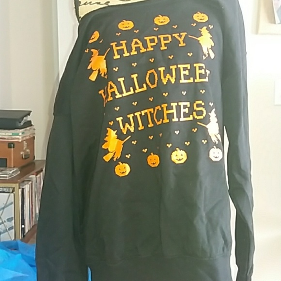 happy halloween witches black sweatshirt xl